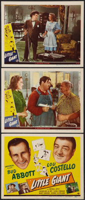 """Little Giant (Universal, 1946). Title Lobby Card and Lobby Cards (2) (11"""" X 14""""). Comedy. ... (Total: 3 Items)"""