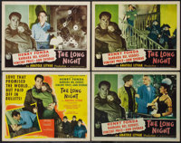 "The Long Night (RKO, 1947). Title Lobby Card and Lobby Cards (3) (11"" X 14""). Film Noir. ... (Total: 4 Items)"