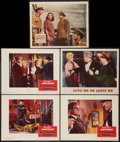 "Movie Posters:Film Noir, Kiss Tomorrow Goodbye and Others Lot (Warner Brothers, 1950). Lobby Cards (5) (11"" X 14""). Film Noir.. ... (Total: 5 Items)"