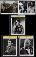 "Movie Posters:War, War Film Lot (Various, 1942-1965). CGC Graded Portrait Photos (3)and Photos (2) (8"" X 10""). War.. ... (Total: 5 Items)"