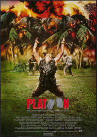 "Platoon (Orion, 1986). German A1 (23.5"" X 33""). Academy Award Winners"