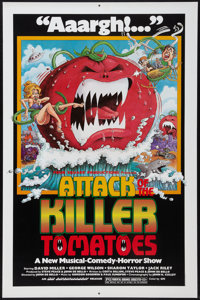 """Attack of the Killer Tomatoes (NAI Entertainment, 1978). One Sheet (27"""" X 41""""). Comedy"""
