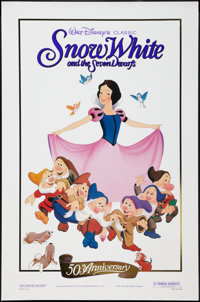 "Snow White and the Seven Dwarfs (Buena Vista, R-1987). One Sheet (27"" X 41""). 50th Anniversary. Animation"