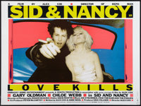 "Sid & Nancy (Embassy Home Entertainment, 1986). British Quad (30"" X 40""). Drama"