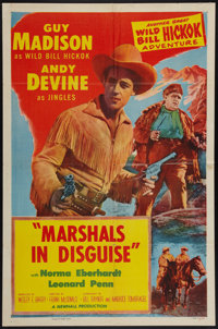 "Marshals in Disguise (Allied Artists, 1954). One Sheet (27"" X 41""). Western"