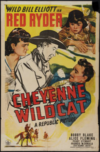 "Cheyenne Wildcat and Other Lot (Republic, 1944). One Sheets (2) (27"" X 41""). Western. ... (Total: 2 Items)"