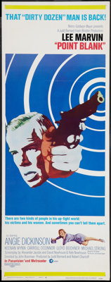 """Point Blank (MGM, 1967). Insert (14"""" X 36""""). Crime"""