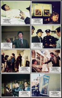 "Death Wish (Paramount, 1974). Lobby Card Set of 8 (11"" X 14"") and Uncut Pressbook (6 Pages, 12"" X 15""..."