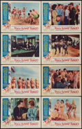"Movie Posters:Comedy, Beach Blanket Bingo (American International, 1965). Lobby Card Set of 8 (11"" X 14""). Comedy.. ... (Total: 8 Items)"