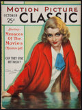 "Movie Posters:Miscellaneous, Motion Picture Classic (Motion Picture Publications, October, 1930). Magazine (Multiple Pages, 8""75"" X 11.5""). Miscellaneous..."