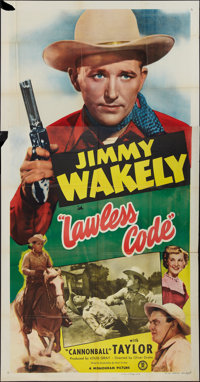 "Lawless Code & Other Lot (Monogram, 1949). Three Sheets (2) (41"" X 81""). Western. ... (Total: 2 Items)"
