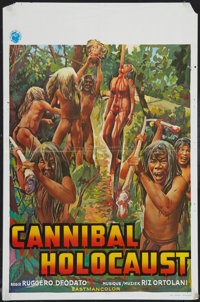 "Cannibal Holocaust (Les Films du Dragon, 1980). Belgian (14"" X 21""). Horror"