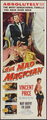 """The Mad Magician (Columbia, 1954). Insert (14"""" X 36""""). Horror"""