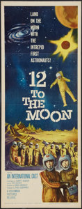 "Movie Posters:Science Fiction, 12 to the Moon (Columbia, 1960). Insert (14"" X 36""). Science Fiction.. ..."