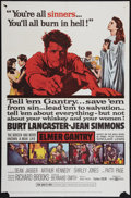 "Movie Posters:Drama, Elmer Gantry (United Artists, 1960). One Sheet (27"" X 41""). Drama.. ..."