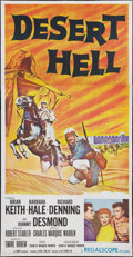 "Movie Posters:Adventure, Desert Hell & Other Lot (20th Century Fox, 1958). Three Sheets (2) (41"" X 81""). Adventure.. ... (Total: 2 Items)"