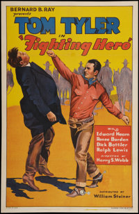 "Fighting Hero (William Steiner, 1934). One Sheet (27"" X 41""). Western"