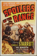 """Movie Posters:Western, Spoilers of the Range (Columbia, 1939). One Sheet (27"""" X 41""""). Western.. ..."""