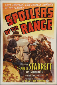 "Spoilers of the Range (Columbia, 1939). One Sheet (27"" X 41""). Western"