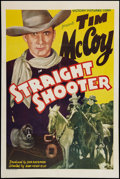 "Movie Posters:Western, Straight Shooter (Victory, 1939). One Sheet (27"" X 41""). Western.. ..."