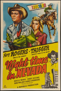 "Night Time in Nevada (Republic, 1948). One Sheet (27"" X 41""). Western"