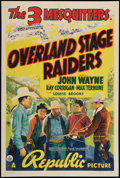 "Movie Posters:Western, Overland Stage Raiders (Republic, 1938). One Sheet (27"" X 41""). Western.. ..."