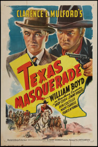 "Texas Masquerade (United Artists, 1944). One Sheet (27"" X 41""). Western"