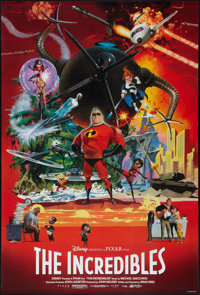 """The Incredibles (Buena Vista, 2004). One Sheet (27"""" X 40"""") SS Advance. Animated"""