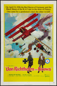 "Von Richthofen and Brown (United Artists, 1971). One Sheet (27"" X 41""). War"
