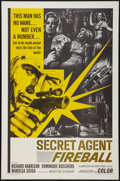 """Movie Posters:Action, Secret Agent Fireball & Other Lot (American International, 1966). One Sheets (2) (27"""" X 41""""). Action.. ... (Total: 2 Items)"""