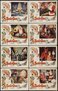"Santa Claus & Other Lot (K. Gordon Murray, 1960). Lobby Cards (8) (11"" X 14"") and One Sheet (26.5 X 41&quo..."
