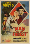 "Movie Posters:Western, Man of the Forest (Paramount, 1933). One Sheet (27"" X 41""). Western.. ..."