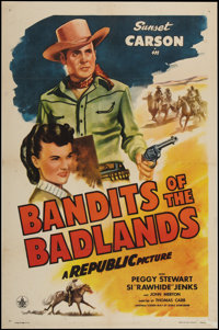 "Bandits of the Badlands (Republic, 1945). One Sheet (27"" X 41""). Western"