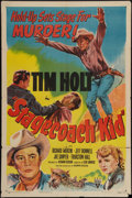 "Movie Posters:Western, Stagecoach Kid (RKO, 1949). One Sheet (27"" X 41""). Western.. ..."