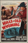 "Movie Posters:Western, Hills of Old Wyoming (Screen Guild Productions, R-1952). One Sheet (27"" X 41""). Western.. ..."
