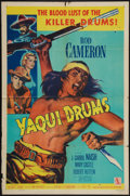 "Movie Posters:Western, Yaqui Drums & Other Lot (Allied Artists, 1956). One Sheets (2) (27"" X 41""). Western.. ... (Total: 2 Items)"