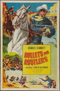 "Bullets for Rustlers & Other Lot (Columbia, R-1952). One Sheets (2) (27"" X 41""). Western. ... (Total: 2 It..."