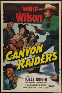 "Canyon Raiders & Other Lot (Monogram, 1951). One Sheets (2) (27"" X 41""). Western. ... (Total: 2 Items)"
