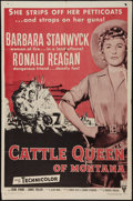"""Movie Posters:Western, Cattle Queen of Montana (RKO, R-1958). One Sheet (27"""" X 41""""). Western.. ..."""