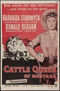 "Cattle Queen of Montana (RKO, R-1958). One Sheet (27"" X 41""). Western"