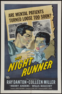 "The Night Runner (Universal International, 1957). One Sheet (27"" X 41""). Film Noir"