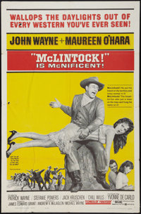 "McLintock! (United Artists, 1963). One Sheet (27"" X 41""). Western"
