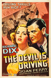 """The Devil Is Driving (Columbia, 1937). One Sheet (27"""" X 41"""")"""