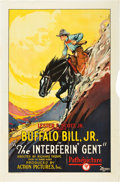 "Movie Posters:Western, The Interferin' Gent (Pathé, 1927). One Sheet (27"" X 41"").. ..."