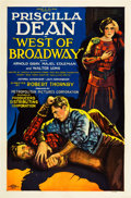 "Movie Posters:Western, West of Broadway (Producers Distributing Corp., 1926). One Sheet(27"" X 41"") Style B.. ..."