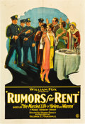 "Movie Posters:Comedy, Rumors for Rent (Fox, 1927). One Sheet (28"" X 41"").. ..."