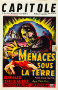 "Movie Posters:Science Fiction, The Mole People (Universal International, 1956). Belgian (14"" X21.5"").. ..."