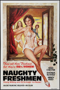 """Naughty Freshmen & Other Lot (SRC Films, 1970). One Sheets (2) (27"""" X 41""""). Adult. ... (Total: 2 Items)"""