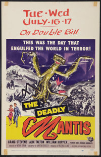 """The Deadly Mantis (Universal International, 1957). Window Card (14"""" X 22""""). Science Fiction"""