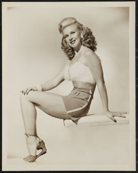 """Ginger Rogers in """"Heartbeat"""" (RKO, 1946). Pinup Portrait Photo (8"""" X 10""""). Comedy"""